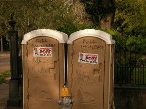 Port-a-potties with a clear message